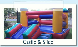 Castle & Slide Ages: 1 - 7 Size: 4 x 6m R500 Tuesday to Thursday R500 Friday to Monday
