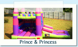 Prince and Princess Ages: 2 - 12 Size: 4X8m R600 Tuesday to Thursday R600 Friday to Monday