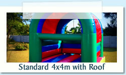 Standard 3.75m with Roof Ages: 1 - 12 Size: 4m X 4m R450 Tuesday to Thursday R450 Friday to Monday