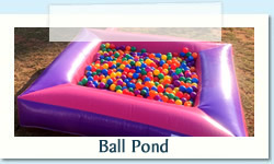 Ball Pond Ages: 1 - 7 Size: 2.5 x 2.5m R400 Tuesday to Thursday R400 Friday to Monday