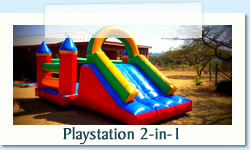 Playstation 2-in-1 Ages: 2 - 12 Size: 4 X 8m Can be used at pool R550 Tuesday to Thursday R550 Friday to Monday