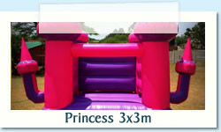 Princess 3x3m Ages: 1 - 7 Size: 3 X 3m R450 Tuesday to Thursday R450 Friday to Monday