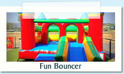 Fun Bouncer Ages: 2 - 12 Size: 4 X 6m R500 Tuesday to Thursday R500 Friday to Monday