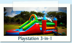 Playstation 3 in 1 Ages 2-12 years Size: 4 X 10m R550 Tuesday to Thursday R550 Friday to Monday