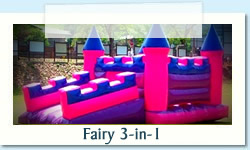 Fairy 3-in-1 Ages: 2 - 12 Size: 3 X 6m R500 Tuesday to Thursday R500 Friday to Monday