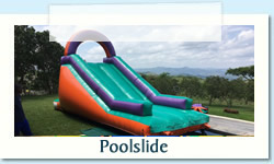 Gladiator Pool Slide  Ages: 3 - 12 Size: 7 x 3 X 3m R650 Tuesday to Thursday R650 Friday to Monday