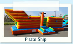 Pirate Ship Ages: 2 - 12 Size: 4 X 8m R600 Tuesday to Thursday R600 Friday to Monday