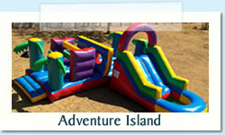 Adventure Island Ages: 2-12 years Size: 8 X 9m R600 Tuesday to Thursday R600 Friday to Monday