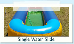 Single Water Slide Ages: 4 - Adult   |   Size: 10 X 1.5m R500 Tuesday to Thursday R500 Friday to Monday